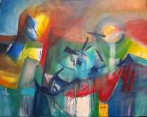 Venernne, Rhossilli, 100 x 80 cm, oil on canvas